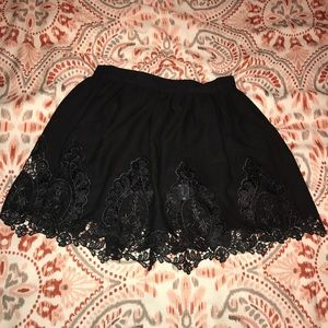 TOBI Black Lace Mini Skirt